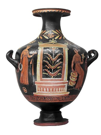 Ancient greek vase photo