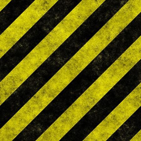 hazard stripes: Yellow and black diagonal hazard stripes seamless texture Stock Photo