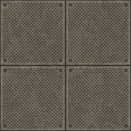 Seamless diamond plate pavement texture photo