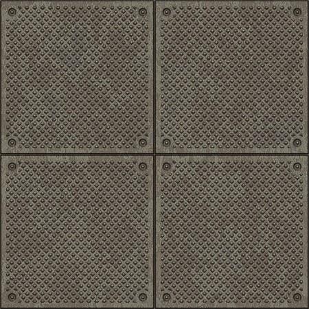 steel floor: Seamless diamond plate pavement texture Stock Photo