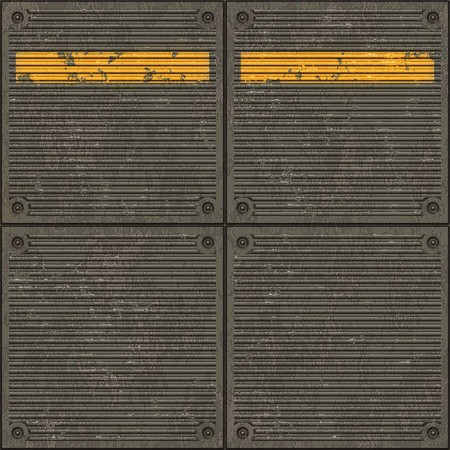 Seamless texture of pavement with a caution yellow line photo