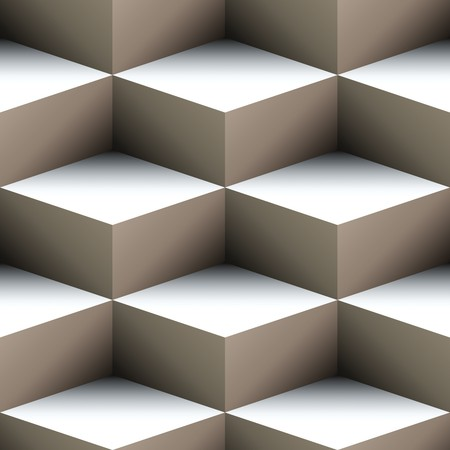 diamonds pattern: Geometric seamless pattern made of stacked cubes