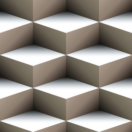 arte optico: Patr�n transparente geom�trica hecha de cubos apilados