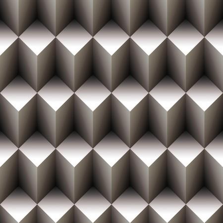 Géométrique motif transparente de cubes empilées  Banque d'images