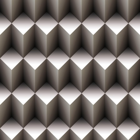 stacked: Geometric seamless pattern made of stacked cubes