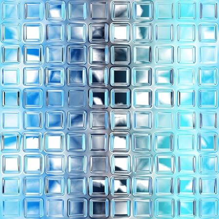 Seamless blue glass tiles texture background photo