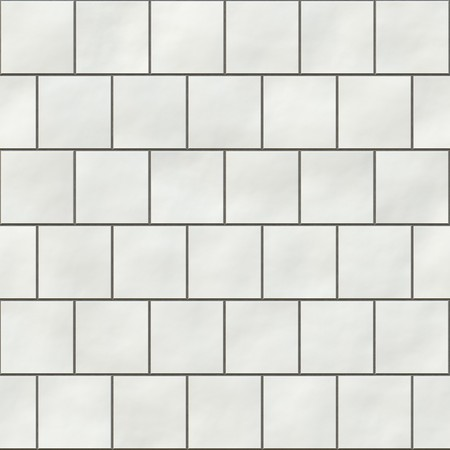 Seamless white square tiles texture in an english style