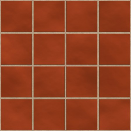 Seamless red (brick like) square tiles texture photo