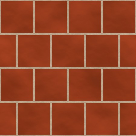 Seamless red (brick like) square tiles texture in an english style position photo