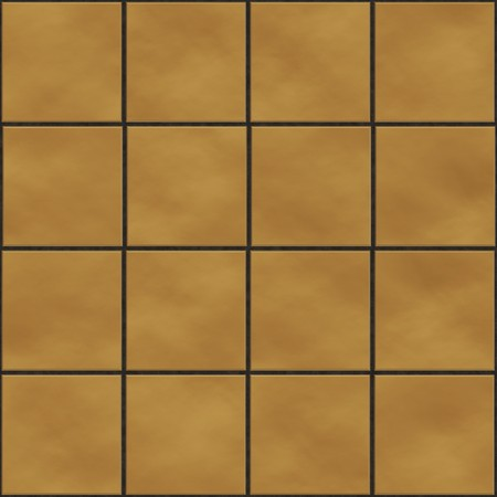 Seamless yellow square tiles texture photo
