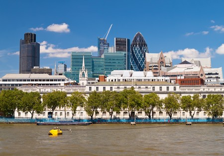 The City of London skyline in a clear summer day Stock Photo - 7377850
