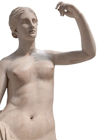 Ancient statue of a nude Venus isolated  photo