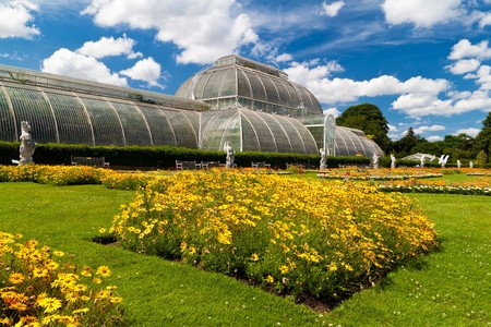 Greenhouse at Kew Gardens in London on a beautiful summer day photo