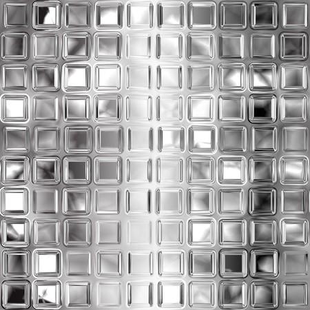 shiny floor: Seamless black and white glass tiles texture Stock Photo