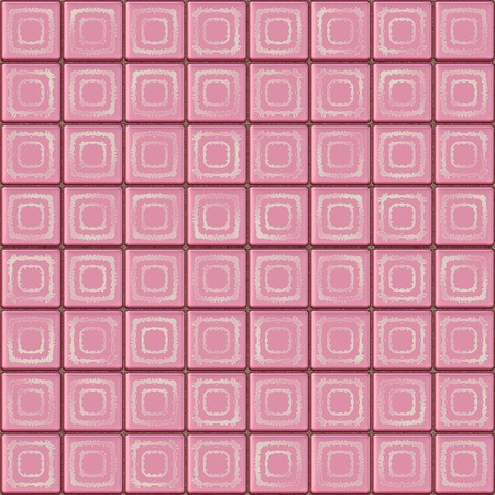 Seamless pink tiles texture with geometric decoration photo