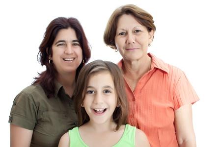 three generations of women: Three generations of latin women