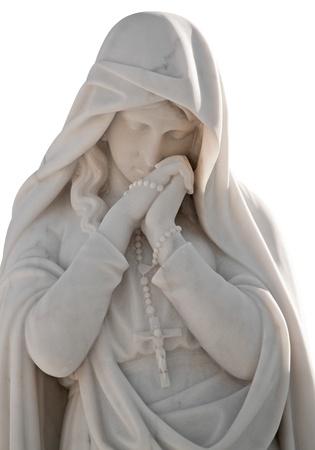 Statue von einer schönen Frau mit einem Trauer Ausdruck  Standard-Bild - 9399607