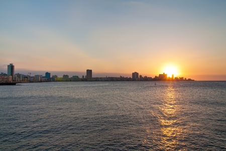 Sunset in Havana with a view of the city skyline Stock Photo - 9397618
