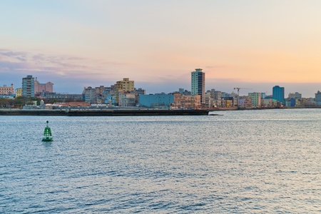 Sunset in Havana with a view of the city skyline Stock Photo - 9397602