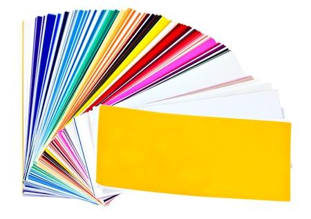 color image creativity: Swatchbook de muestras de color aislado en un fondo blanco Foto de archivo