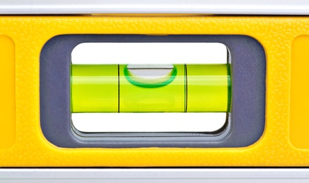 construction level: Macro shot of a yellow spirit level