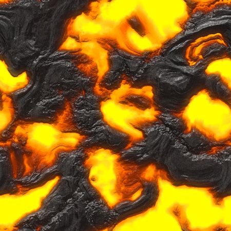 Seamless magma or lava texture with melting rocks and fire photo