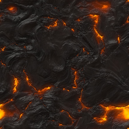 volcano: Seamless magma or lava texture with melting rocks and fire