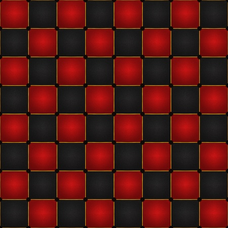 board game: Black and red seamless checkers or chess board texture