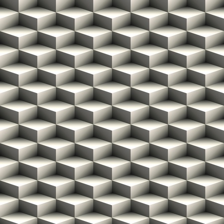 Geometric seamless pattern made of stacked cubes photo