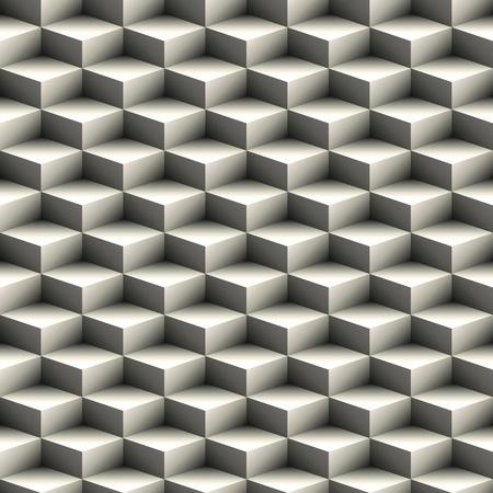 arte optico: Patr�n transparente geom�trica de cubos apilados