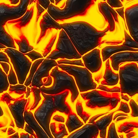 Magma sans soudure ou texture de lave avec la fonte des roches et le feu