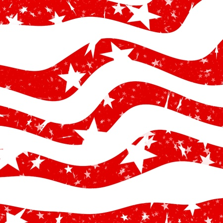 Seamless illustration resembling the american flag with stars and red stripes illustration