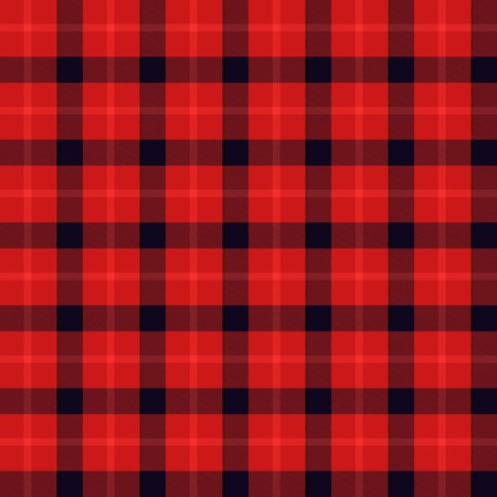 Seamless tartan or plaid texture in red and black photo
