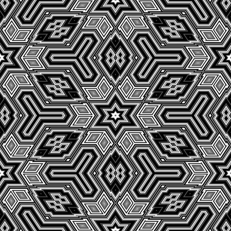 3d black and white abstract cubes resembling an Escher illustration illustration