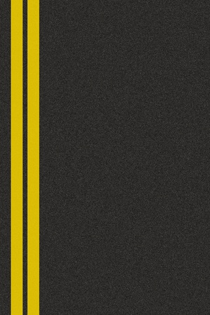 Seamless asphalt texture with a double yellow line photo