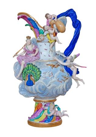 Luxurious european porcelain vase  photo