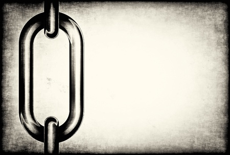 robust: Detail of chain links on a grunge background with space for text Stock Photo