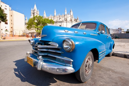 HAVANA-APRIL 20:Classic car April 20,2011 in Havana.Cubans keep thousands of them running despite the fact that parts have not been produced for decades and theyve become an icon of the country