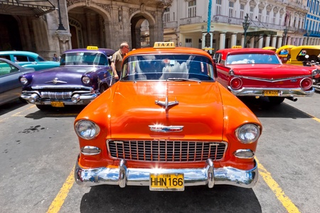 HAVANA-JUNE 4:Chevrolet and other classic cars June 4,2011 in Havana.Cubans keep thousands of old classic cars running despite the lack of parts and theyve become an iconic image of the country