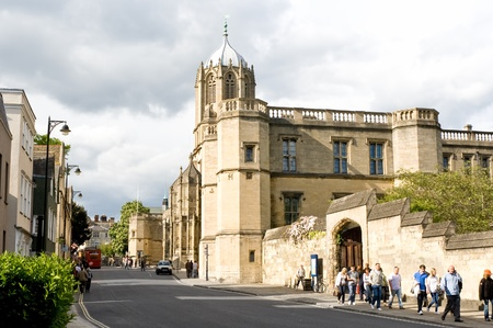 constituent: OXFORD,UK-MAY 3:Urban view adjacent to Christ Church college May 3,2011 in Oxford.Established in 1546, Christ Church is one of the largest constituent colleges of the University of Oxford  Editorial