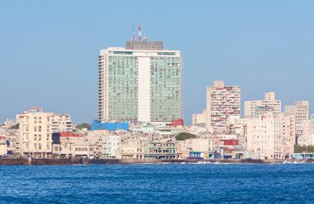 The skyline of Havana seen from the ocean