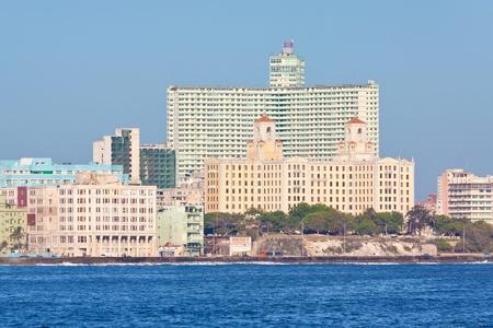 The skyline of Havana seen from the ocean photo