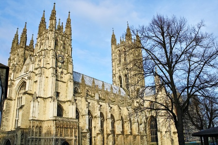 The Cathedral of Canterbury on a beautiful day Stock Photo