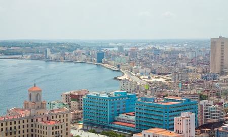 Aerial view of the Havana shore from El Vedado to the bay entrance photo