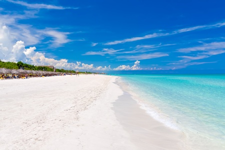 cuba: The beautiful beach of Varadero in Cuba Stock Photo