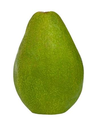 Ripe avocado isolated on a white background photo