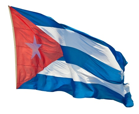 cuban flag: Cuban flag isolated on a white background Stock Photo