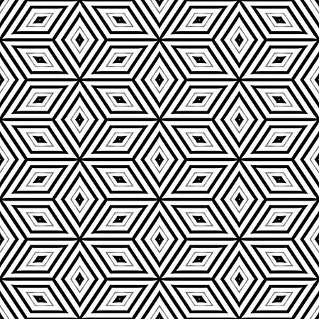 Seamless pattern of 3d cubes resembling an Escher illustration illustration
