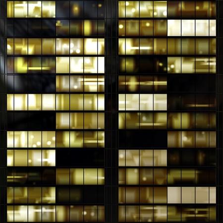 fachada: Perfecta textura se asemeja ventanas iluminadas en un edificio en la noche
