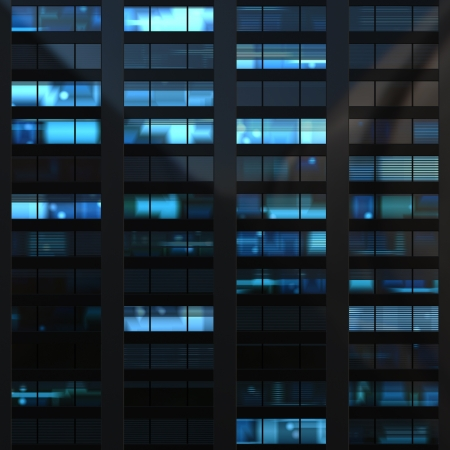 Seamless texture resembling skyscrapers windows at nigh photo